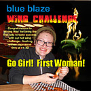 Wrong Way first Woman in Hot Wings! Damascus by blue blaze cafe in Virginia & West Virginia Trail Towns