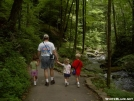 Rainman with his kids at Anna Ruby Falls - July 2004 by Rainman in Day Hikers