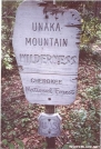 Unaka Mountain Sign by Big Guy in Trail & Blazes in North Carolina & Tennessee
