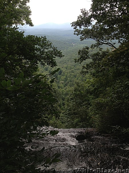 View from top of falls