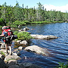 Ethan Pond by muddy boots in Ethan Pond Campsite and Shelter