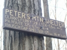 Sign on Peters Mountain by Green Bean in Sign Gallery