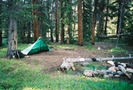 Great campsite by Bearpaw in Colorado Trail