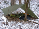 Tarp Camp at Big South Fork NRRA by Bearpaw in Tent camping