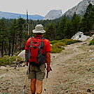 Hiking towards Half Dome on John Muir Trail