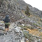 Hiking up from Garnet Lake on John Muir Trail