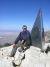 Cookerhiker sits atop Texas