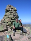 Cookerhiker & Scarf at Katahdin cairn by Cookerhiker in Katahdin Gallery