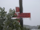 Ice hangs on sign atop Mt. Cube by Cookerhiker in Trail & Blazes in New Hampshire