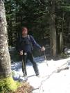 Cookerhiker on Trail atop Killington