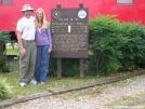 Cookerhiker & Scarf on Trail in Hot Springs by Cookerhiker in North Carolina &Tennessee Trail Towns