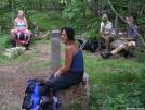 4 thru-hikers in Shenandoah NP