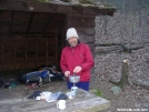 Fixing dinner at Matts Creek Shelter by Cookerhiker in Section Hikers