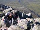 Scarf & Nails scrambling up Hunt Trail