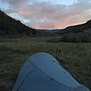 Everning alpenglow on Colorado Trail