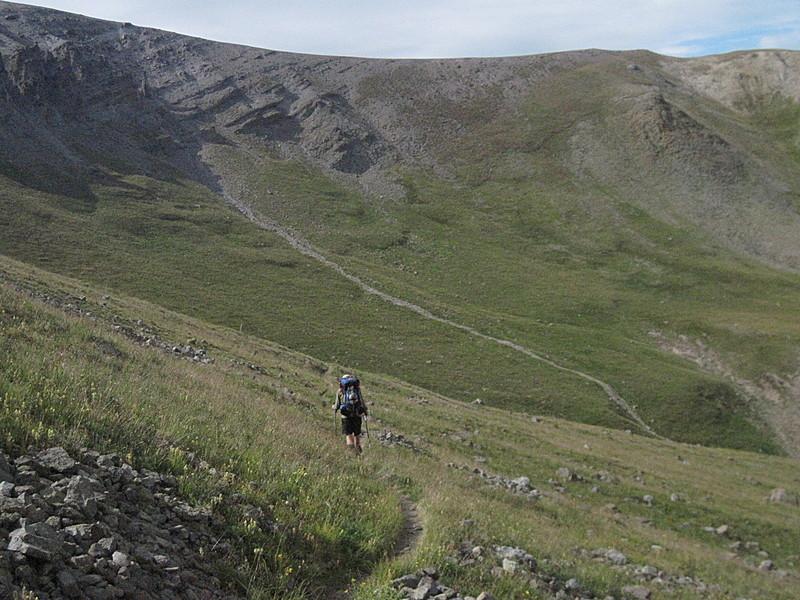 Descending from San Luis Pass