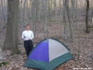 Deb next to her tent by Cookerhiker in Section Hikers