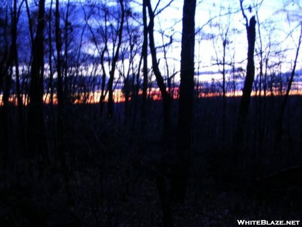 November sunrise at Cove Mountain