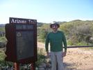 Cookerhiker at Arizona Trail Sign