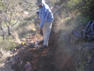 Cookerhiker Works On The Arizona Trail by Cookerhiker in Other Trails