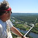 Cookerhiker looks down on Lehigh Gap