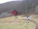 Scarf Walks To Overmountain Shelter by Cookerhiker in North Carolina & Tennessee Shelters