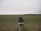 Hiking Across Field In Pennsylvania