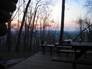 Dawn From Ed Garvey Shelter by Cookerhiker in Maryland & Pennsylvania Shelters