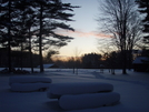 Winter Sunset Chickagami Park. by tarbender in Other Trails