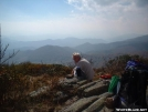 Silver Dome takes lunch on Jane Bald by cabeza de vaca in Section Hikers