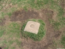 The Geodesic Marker on Max Patch summit  03APR2007 by cabeza de vaca in Trail & Blazes in North Carolina & Tennessee