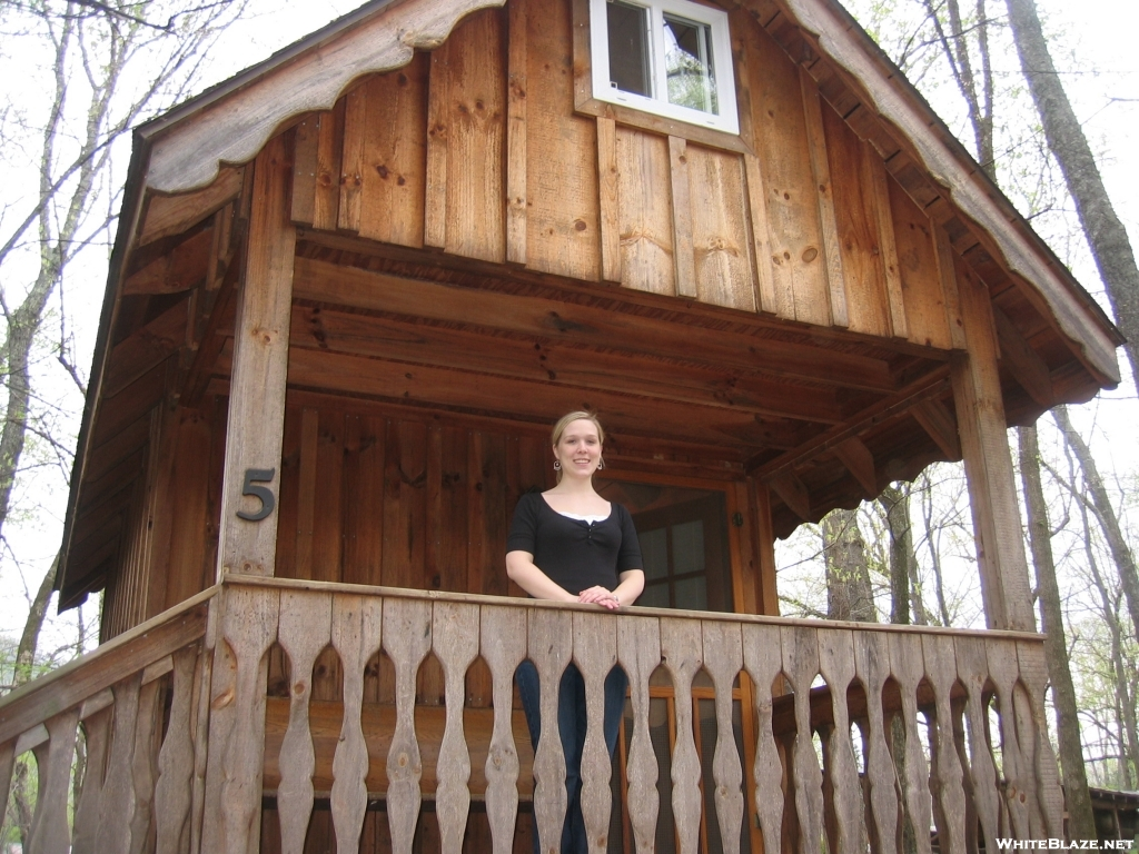 princess stands on showimage vbg forum porch at campground springs cabins hot cabin leah