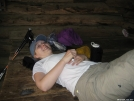 Princess Leah rests at Deer Park Shelter 04APR2007 by cabeza de vaca in Section Hikers
