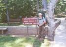 Amicalola Approach Trail Start Sign by cabeza de vaca in Trail & Blazes in Georgia