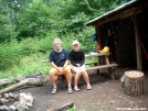 Father and Daughter at Jerry\'s Cabin Shelter 25JUN2005 by cabeza de vaca in Section Hikers
