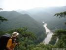 Cabeza de Vaca looks down on Nolichucky River 30JUL2005 by cabeza de vaca in Section Hikers