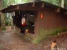 No Business Knob Shelter side view 29JUL2005 by cabeza de vaca in North Carolina &Tennessee Trail Towns