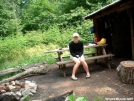Princess Leah at Jerry\'s Cabin Shelter 25JUN2005 by cabeza de vaca in Section Hikers