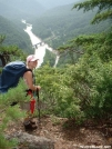 Princess Leah looks down on Nolichucky River 30JUL2005 by cabeza de vaca in Section Hikers