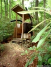 Flint Mountain Shelter Privy Front by cabeza de vaca in North Carolina & Tennessee Shelters