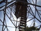 Shuckstack Fire Tower Stair by cabeza de vaca in Trail & Blazes in North Carolina & Tennessee