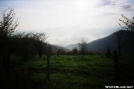 Morning of misty hills