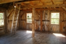 Lookout Cabin interior, AT Vermont by Rough in Vermont Shelters