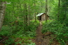 Stony Brook Shelter Approach by Rough in Vermont Shelters