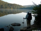 Little Rock Pond at dawn by Rough in Trail & Blazes in Vermont