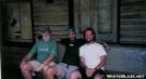 Tackle, Crutch & Leaf at Harper's Train depot by crutch in Virginia & West Virginia Trail Towns