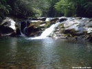 The reward: Lower Slickrock Falls by SGT Rock in Benton MacKaye Trail