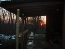 The Sun Sets At Clyde Smith Shelter by Blissful in North Carolina & Tennessee Shelters