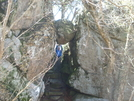 Holding Up The Guillotine Rock by Blissful in Trail & Blazes in Virginia & West Virginia