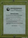 Riga Lean-to: Bear Box sign